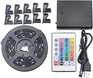 LtrottedJ 2.5M RGB LED Strip Waterproof USB LED Light Strips Flexible Tape DC 5V