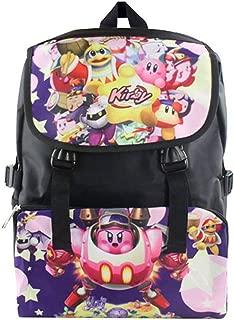 Cosstars Kirby Juego Bolso de Escuela Mochila de Impresión de Imagen HD Bolsa de Estudiante Backpack