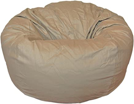 Ahh! Products Cotton Washable Bean Bag,  Tan,  Large