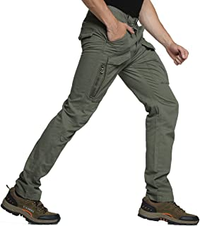 Men's Cargo Pants Tactical Trousers Outdoors Work Multi-Pockets