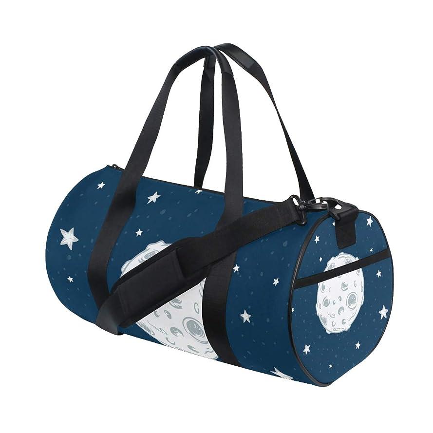 キャンプキネマティクス面スポーツバッグ ボストンバッグ 天体 星 広い ジム 運動 収納 大容量 靴収納 多機能 ショルダーバッグ ファスナー ポケット付き 旅行 2WAY