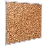 Quartet Cork Board, Bulletin Board, 4' x 3' Corkboard, Aluminum Frame (2304)
