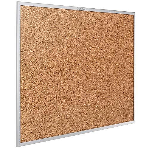 Quartet Cork Board, Bulletin Board, 3' x 2' Corkboard, Aluminum Frame...