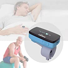 LOOKEE O2 Monitor   Oxygen & Heart Rate Tracker   Vibrating Notification for Low O2 Level   Free Mobile App for Sleep Insights   Fitness, Sports Or Aviation Use Only