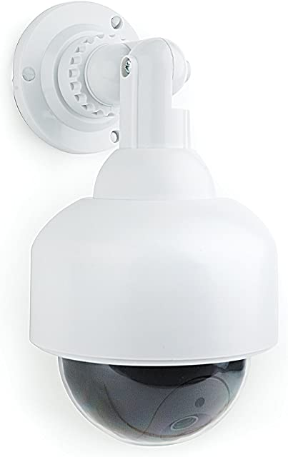 I-CHOOSE LIMITED Gembird CAM-DS-03 Cámara Simulada CCTV Speed Dome/Cámara de Seguridad Casera Falsa Luz LED Intermitente