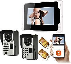 Tuya Smart WiFi Video Deurbel, Intercom, Vingerafdruk Wachtwoord 1080P Nachtzicht Video Deurtelefoon, 7 Inch Monitor Displ...