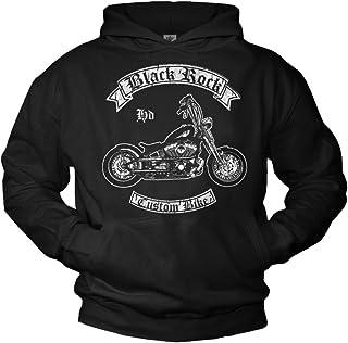 Biker Teschio da Uomo Felpa CON CAPPUCCIO MOTOCICLISTA MOTOCICLETTA MOTO INDIAN custom chopper bike