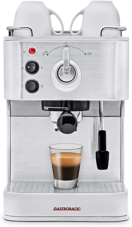 Gastroback 42606 Cafetera Espresso Puls, 1250 W, 1 Liter, 0 Decibeles, Acero inoxidable, Plata: Amazon.es: Hogar