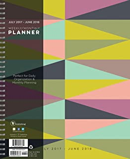 2018 Academic Geometric 9x11 Daily Weekly Monthly Planner - July 2017-June 2018 Calendar