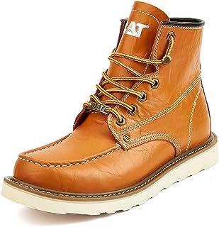 TH&Meoostny Chaussures de randonnée pour Hommes Bottes d'outillage en Cuir Haut de Gamme Bottes Haut-Top Bottes Martin Bot...