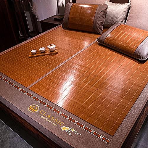 Colchón Bamboo,Estera de bambú de Doble Cara, colchón de Verano Plegable de Verano Fresco Almohadilla para Dormir Estudiante colchón Individual