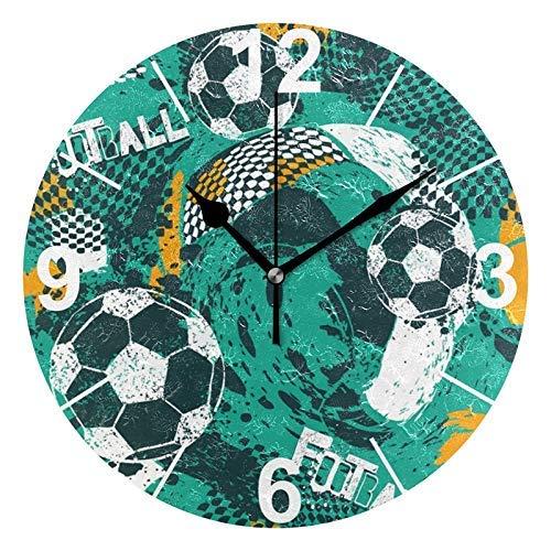 zhulaowufenbaoyouxi Herz-runde Acrylwanduhr, stille Nicht tickende Ölgemälde-Innenministerium-Schuldekorative Uhr-Kunst