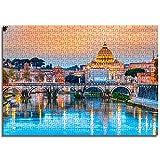 BOVIENCHE Jigsaw Mini Puzzles For Adults 1000 Pieces Basílica De San Pedro Juguete Educativo para Niños Regalo De Descompresión -(38 X 26Cm)