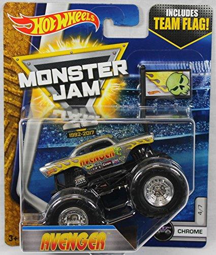2017 Hot Wheels Monster Jam 1:64 Scale with Team Flag - Avenger Chrome 4/7 ( '57 chevy)
