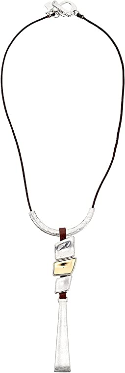 Robert Lee Morris - Sculptural Shapes Pendant Necklace