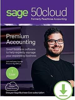 Sage 50cloud Premium Accounting 2019 1 User [PC Download]