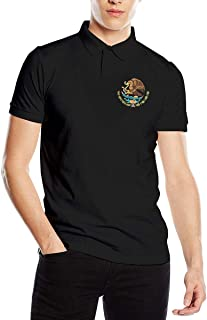 Mexico Flag Eagle Fashion Classic Mens Polo Shirt Short Sleeve Golf Shirts