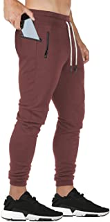 FEDTOSING Mens Joggers Sports Trousers Sweatpants Tracksuit Causal Bottoms Workout Gym Zipper Pockets