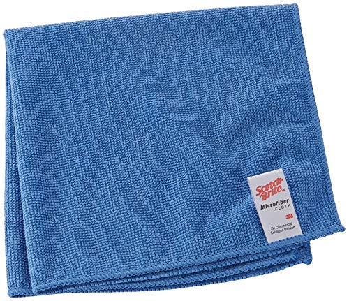 3M Scotch-Brite 421749 Scotch-Brite Mikrofasertuch, Essent Eco 2012, 360 mm x 360 mm, Blau (10 er-Pack)