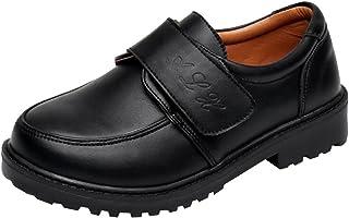 03d93a51 hibote Zapatos Oxford para Niño - Zapatos de Vestir Formales de Fiesta de  la Escuela Negra