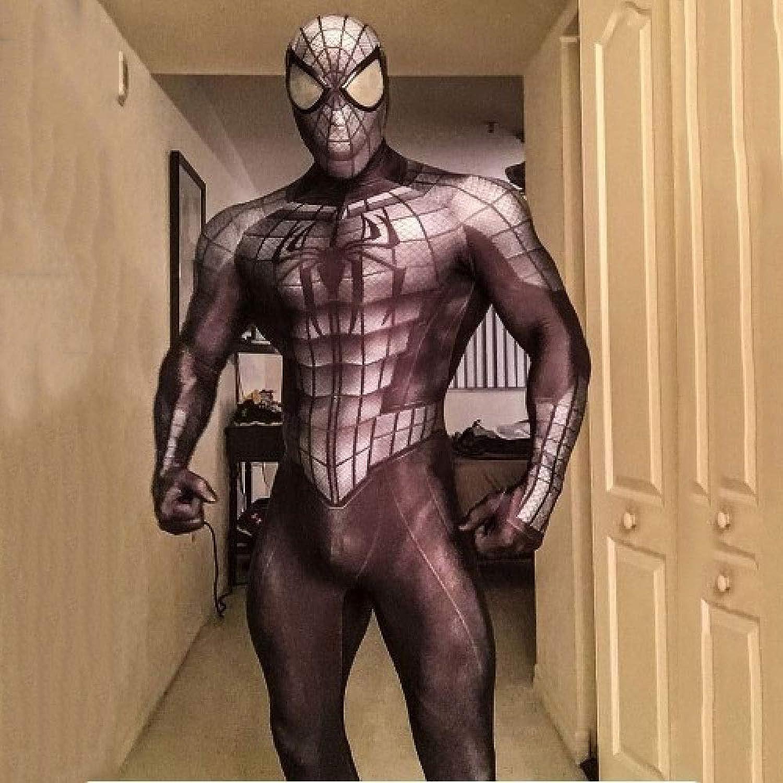 nuevo listado CHXY Spiderman Niño Adulto Adulto Adulto Ropa CosJugar,Halloween Navidad Celebracion Vestido súperhéroe Traje Fiesta De Baile Medias,negro-S  Obtén lo ultimo