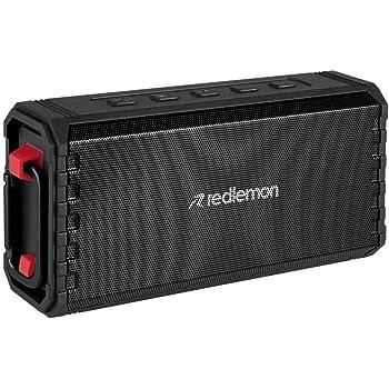 Redlemon Bocina Bluetooth Inalámbrica para Exteriores, contra Agua, Golpes y Caídas, Potente Sonido High Definition, Batería de Larga Duración hasta 24 Horas de Uso, Ideal para Acampar y Excursiones