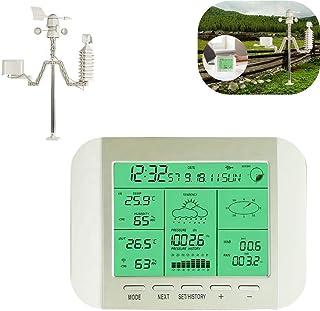ウェザーステーション 気象観測 プロフェッショナルな太陽エネルギー天気予報ステーション、農業、庭、バルコニー、家、気圧計、温度湿度計、多機能気象ステーション 完全な気象ステーション