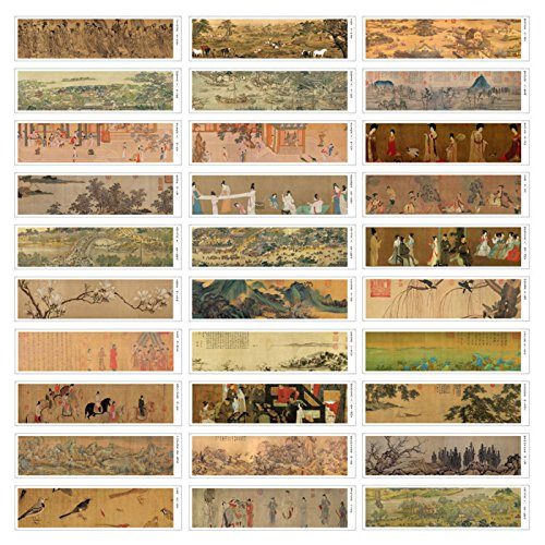 Ancient Chinese Painting Theme Colorful Bookmarks, 30PCS