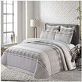 COTTON ARTean Tagesdecke RIS für Bett mit 200 cm Breite, 310 x 260 cm, inkl. 2 Kissenbezügen.