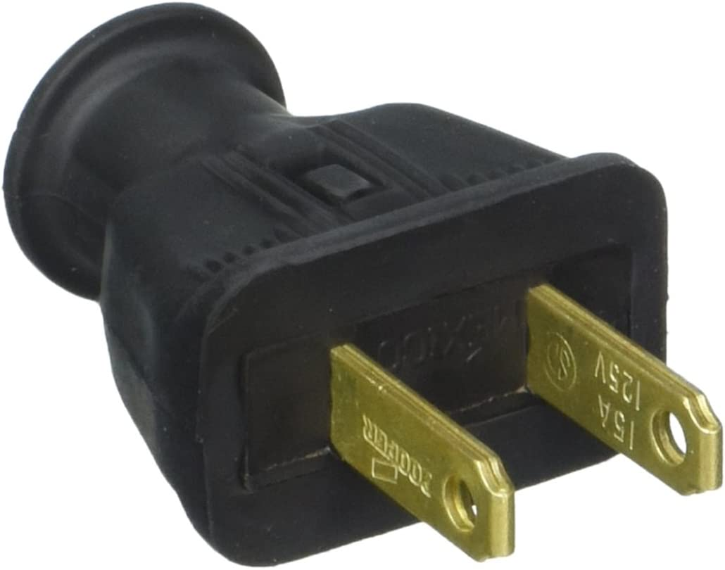 Cooper Wiring 183BKBX Non-Grounding Plug Max 45% OFF Straight Blade High material Rubber