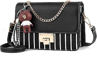 zhongningyifeng Umhängetasche Umhängetasche für Damen Leder Kleine Geldbörsen Handtaschen Mode mit Kettenriemen