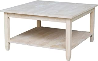 International Concepts Coffee Table, Unfinished