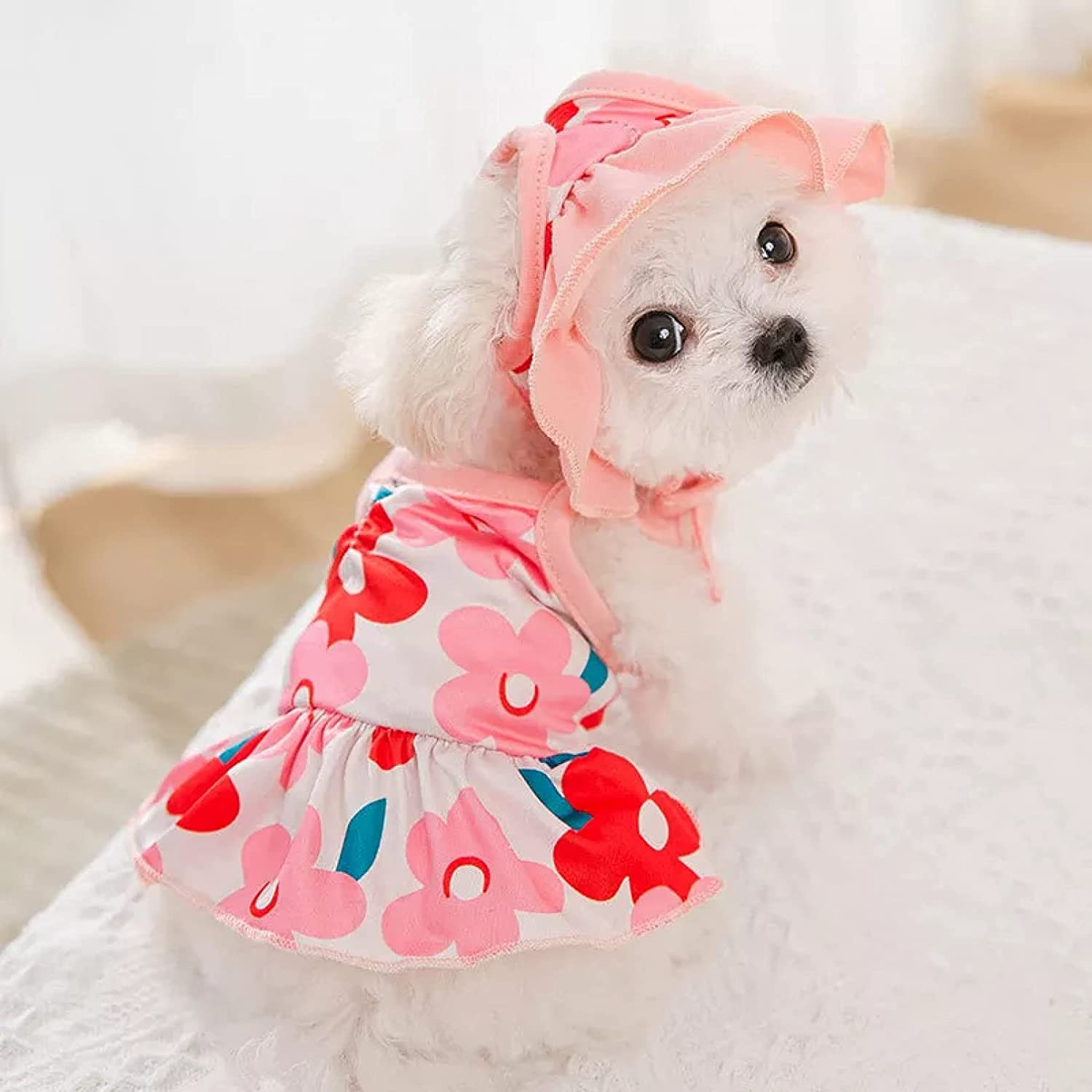 MDKAZ Sale SALE% OFF Bombing new work Clothes for Pets Dog Summer Hat Dress with Sweat Swimwear