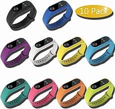 Gosear 10 Piezas Pulsera para Xiaomi Mi Band 2, Smartwatch , reloj inteligente, Correa de reloj, pulsera para mi banda 2,Gosear Correa Silicona de Reemplazo Reloj de Pulsera Banda Correa