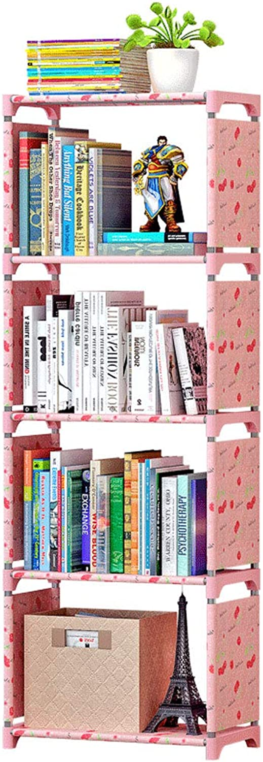 TLMYDD Bookcase Bookcase Office Storage Rack Free Combination Storage Shelf 42 X 26 X 124cm Bookcase (color   B)