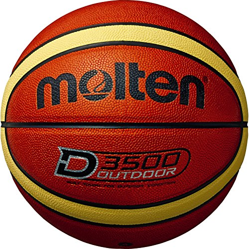 Molten Basketball B6D3500 Größe 6, Orange/Creme/Shiny Optic, 6