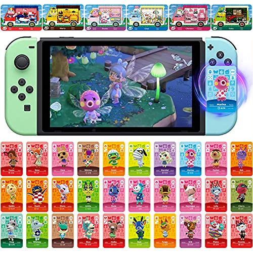 36Pcs Villager Cards NFC Game Cards for Sanrio for Animal Crossing Compatible with Switch,Switch Lite, Wii U System
