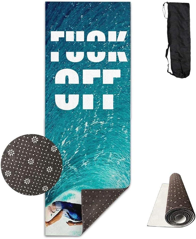 Fuck Off Yoga Mat Towel for Bikram Hot Yoga, Yoga and Pilates, Paddle Board Yoga, Sports, Exercise, Fitness Towel