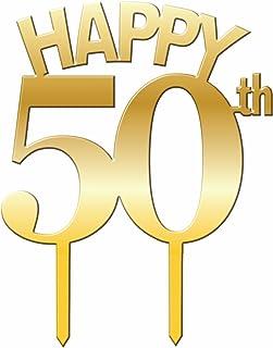 Forum Novelties 50th Birthday/Anniversary Cake Topper, Multi