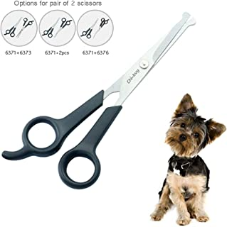 Chibuy Professional Pet Grooming Scissor with Round Tip Stainless Steel Dog Eye Cutter..