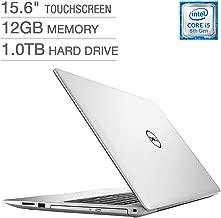 Dell Inspiron 15 5000 15.6-inch Touchscreen FHD 1080p Premium Laptop, Intel Quad Core i5-8250U Processor, 12GB RAM, 1TB Hard Drive, DVD Writer, Backlit Keyboard, Bluetooth, Silver