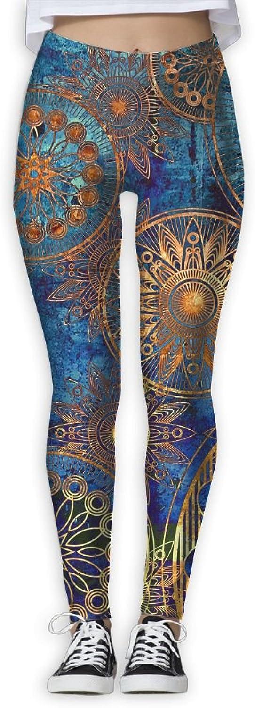 Boho Pattern Womens Power Flex Sports Yoga Pants Workout Tights Leggings Trouser