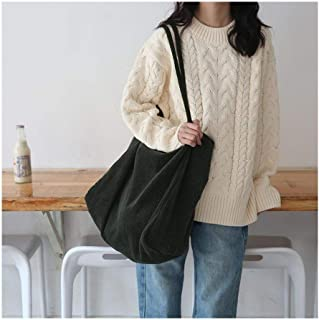 المرأة الأزياء كوردروي حقيبة الكتف سعة كبيرة الإناث حمل حقيبة يد طوي قابلة لإعادة الاستخدام حقائب التسوق رقيقة حزام القماش