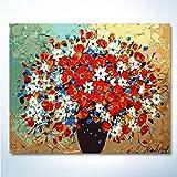 DIY pintura digital preimpresa lienzo adulto pintura al óleo regalo niños set decoración de la casa familiar flor de color 40x50cm (con marco)