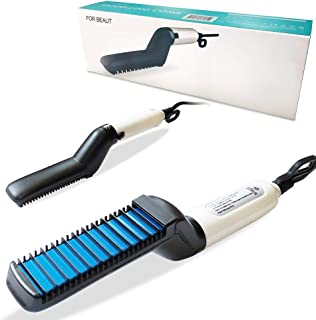 Quick Hair Straightening, Curly Hair Straightening Curler Comb for Men