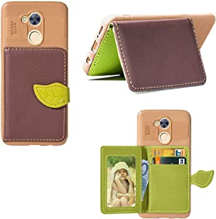 Huawei Honor6A Pro/5C Pro Case, Vivid Leaf Bag Wallet Back Credit ID Card Slots Cover, TAITOU New TPU Ultralight Awesome Phone Case For Huawei Honor 6A Pro/5C Pro Brown