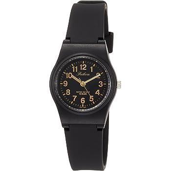 [シチズン Q&Q] 腕時計 アナログ 防水 ウレタンベルト VP47-853 レディース ブラック ゴールド