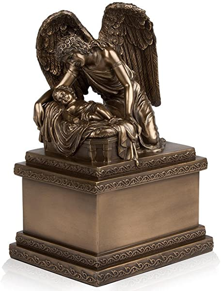 Perfect Memorials Bronze Angel And Child Cremation Urn