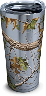 Tervis 1262140 Realtree - Xtra Green Knockout Stainless Steel Tumbler with Clear and Black Hammer Lid 20oz, Silver
