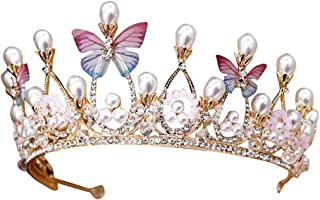 NewKelly Fashion and Elegant Bride Crown Zircon Rhinestone Luminous Luxury Wedding Bridal Jewelry Tiara Gifts Women Headwear